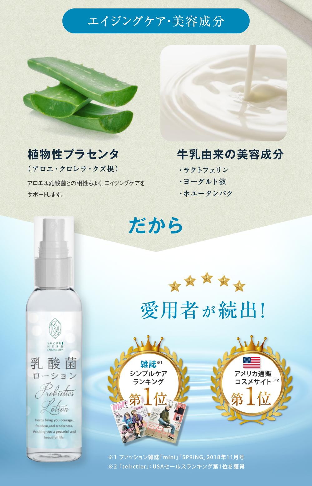 エイジングケア・美容成分 植物性プラセンタ 牛乳由来の美容成分 だから愛用者が続出!