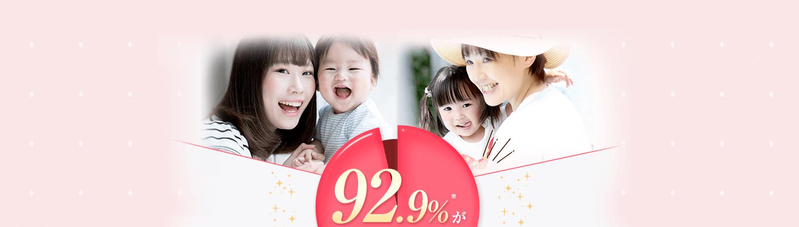 産後ママ92.9%がママ友に薦めたいと絶賛!