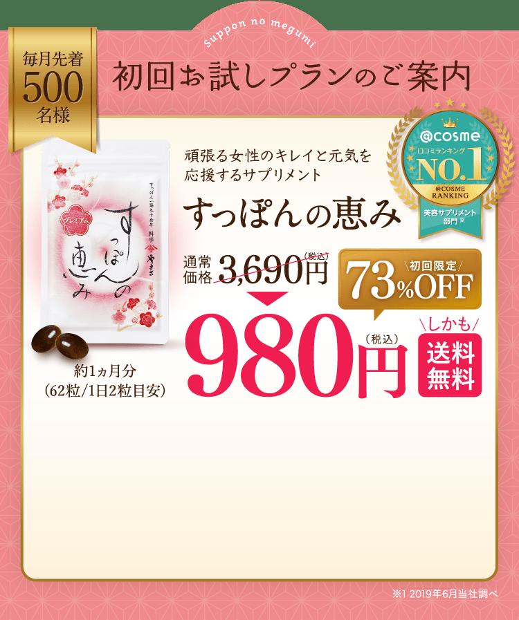 初回980円キャンペーン