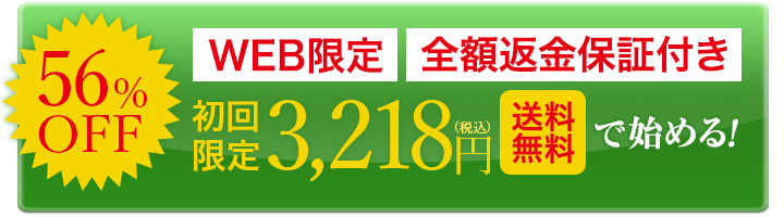WEB限定 全額返金保証 初回限定2980 送料無料で始める!