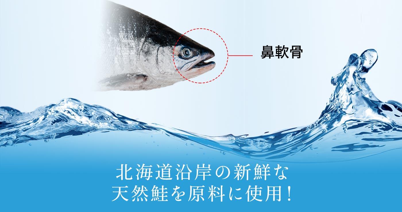 北海道沿岸の新鮮な天然鮭を原料に使用!