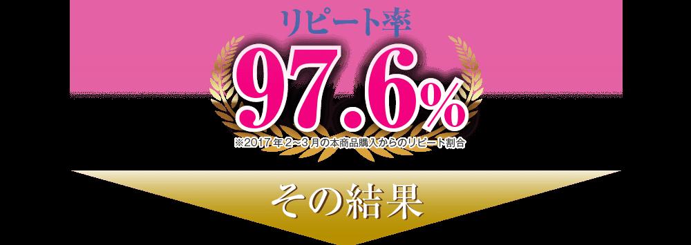 リピート率97.6%