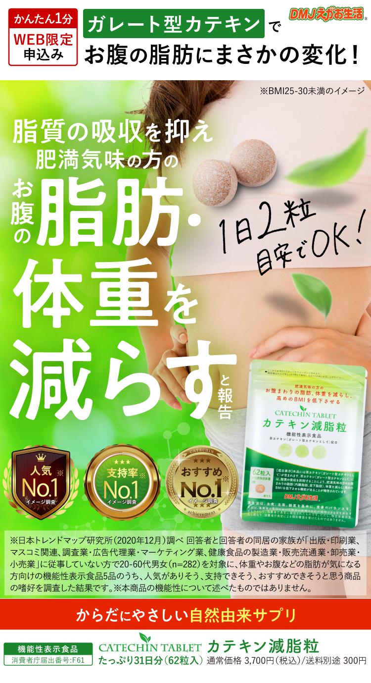 お腹の脂肪と体重を減らすカテキンサプリ カテキン減脂粒980円モニター募集