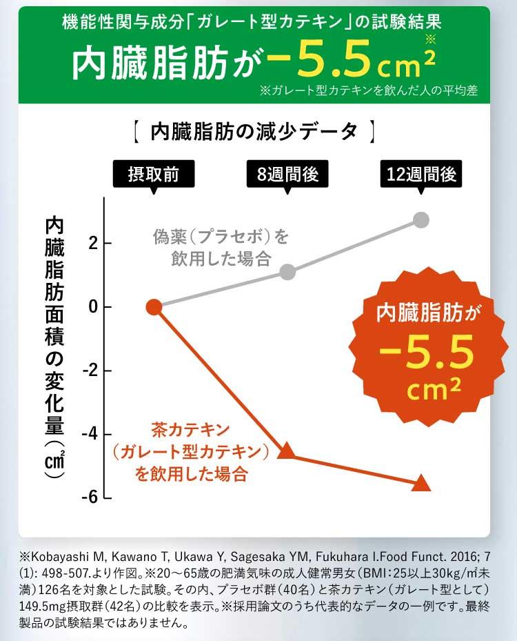 内臓脂肪が-5.5平方センチメートル