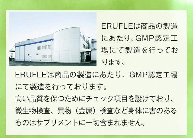 GMP認定工場にて製造を行っております