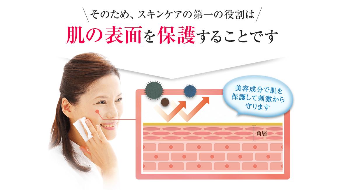スキンケアの第一の役割は肌の表面を保護することです