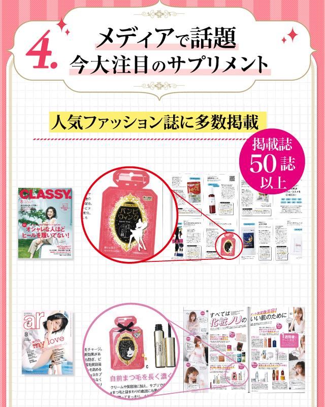 大人気の雑誌に多数掲載!大人の女性に注目されているサプリメントです「30誌以上に掲載!」