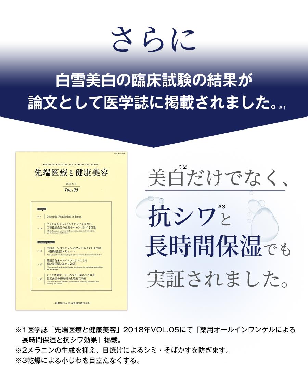 白雪美白の臨床試験の結果が論文として医学誌に掲載されました。
