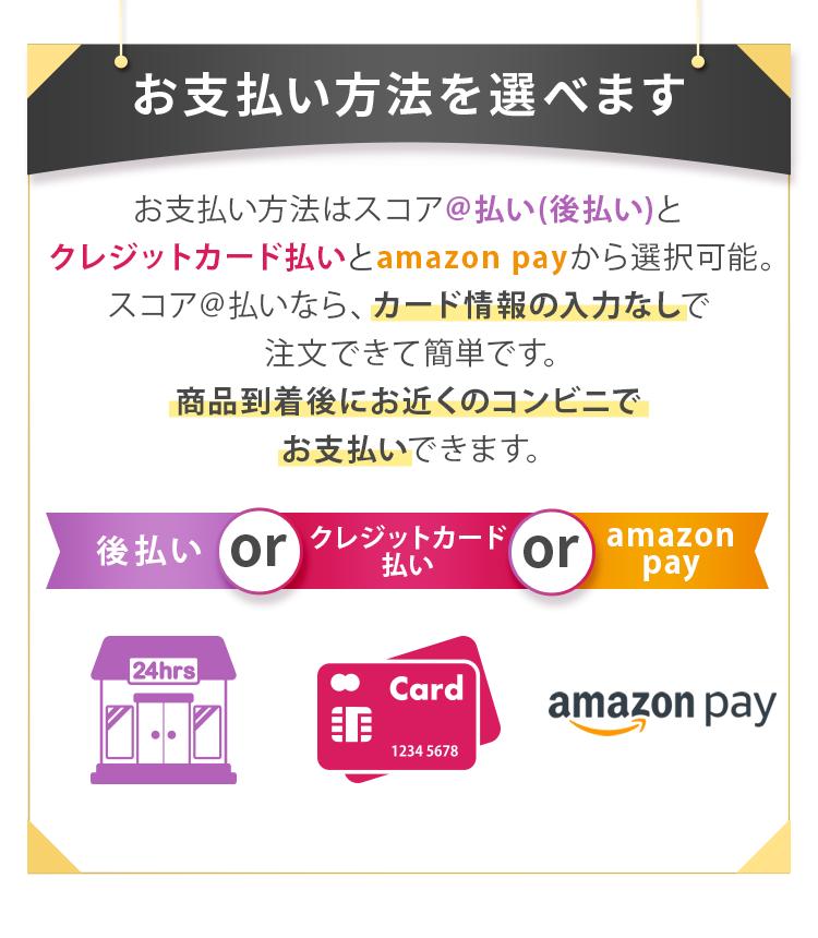 お支払方法を選べます