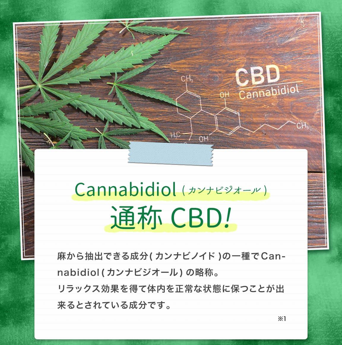 Cannabidiol(カンナビジオール)通称CBD