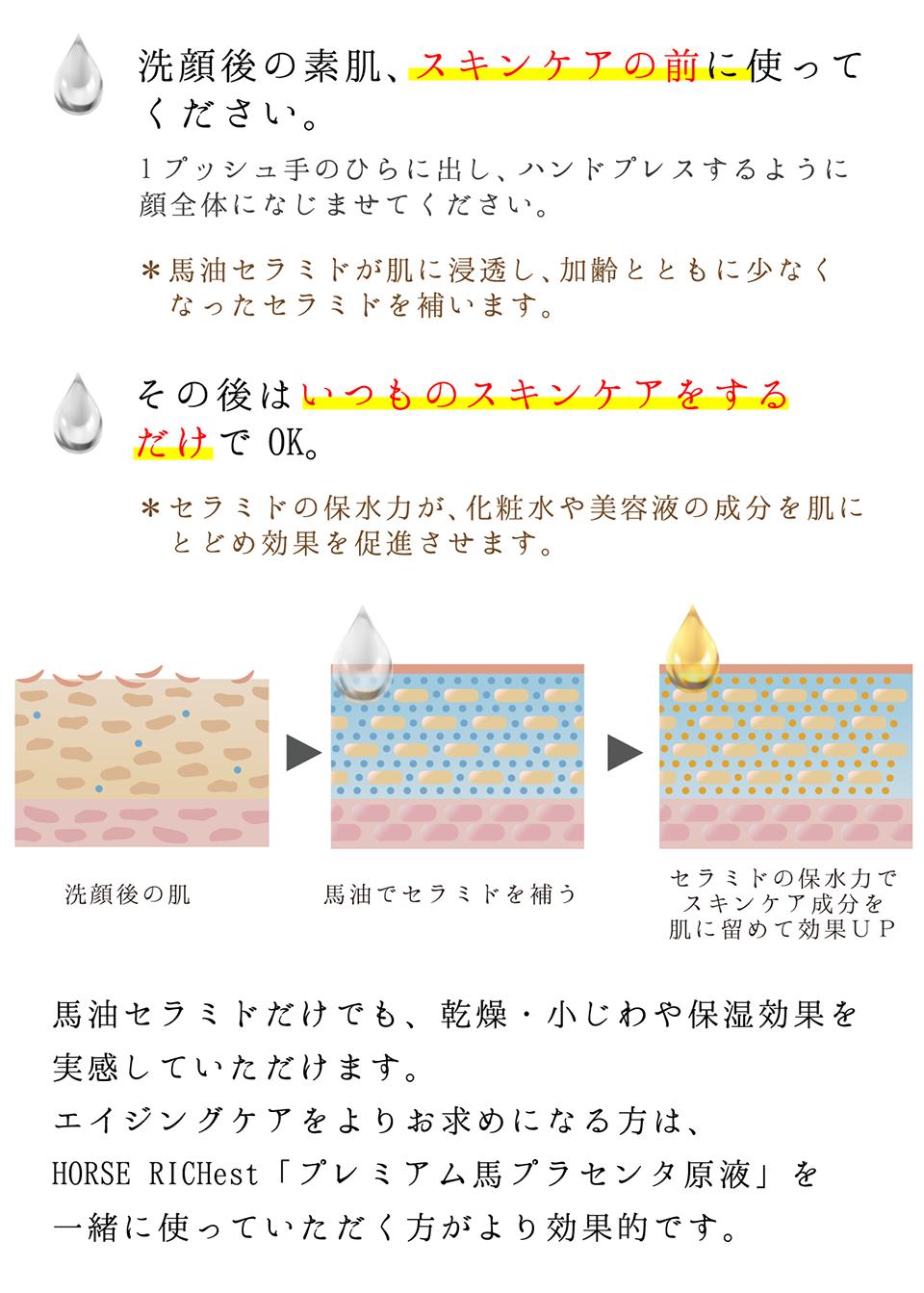 洗顔後の素肌、スキンケアの前に使ってください