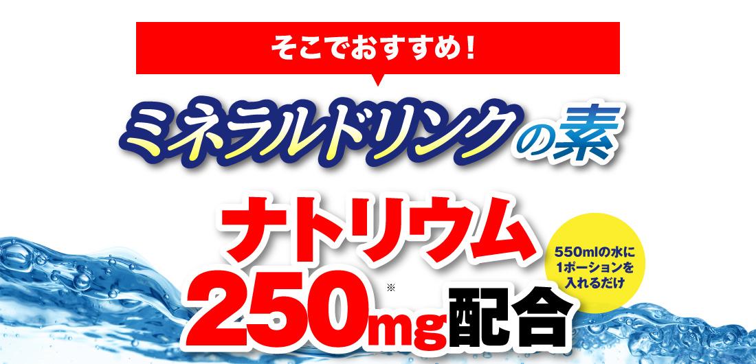 ナトリウム250mg配合
