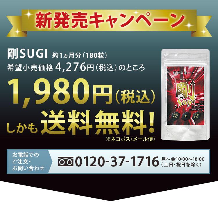 新発売キャンペーン1980円