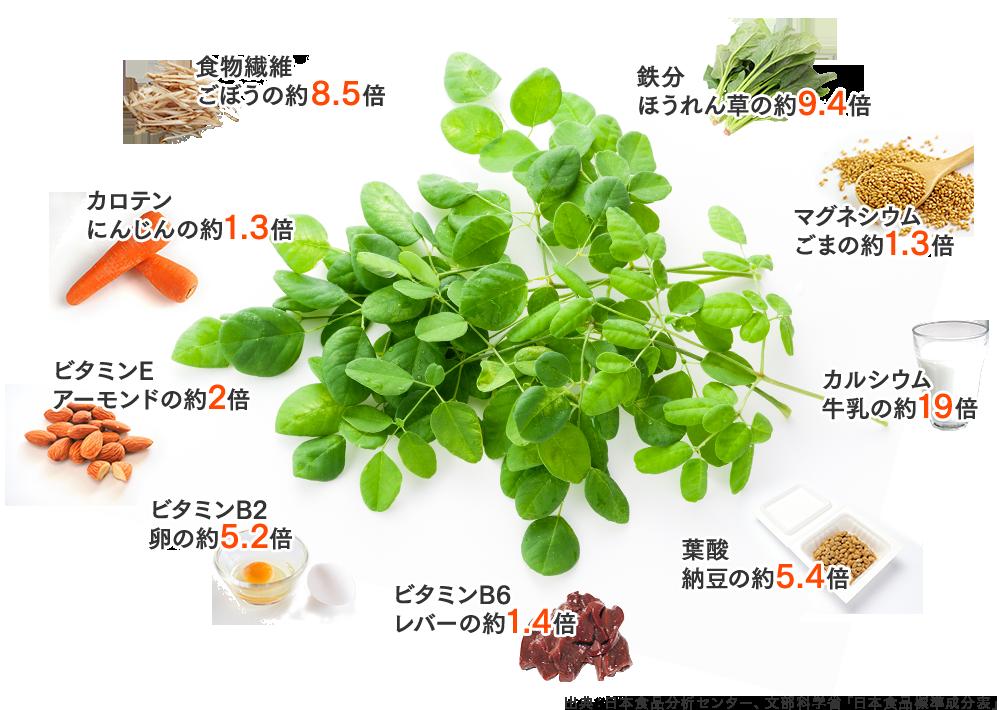 出典:日本食品分析センター、文部科学省「日本食品標準成分表」